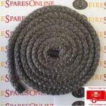 Black door rope seal, stove door rope seal, free postage on this item.