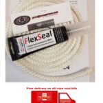 Free Shipping, Stove Rope Seal, Fire Spares, White rope kit with flex seal adhesive, Free Shipping