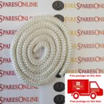 White door rope seal per metre, stove door rope seal